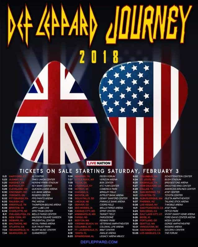 def leppard and journey tour 2018 full north american run. Black Bedroom Furniture Sets. Home Design Ideas