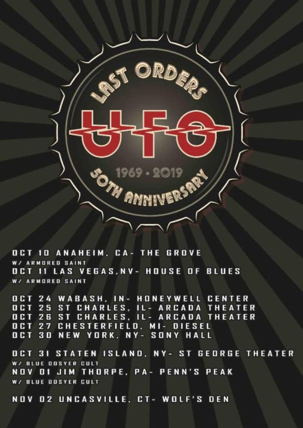 UFO Announces Final North American Tour